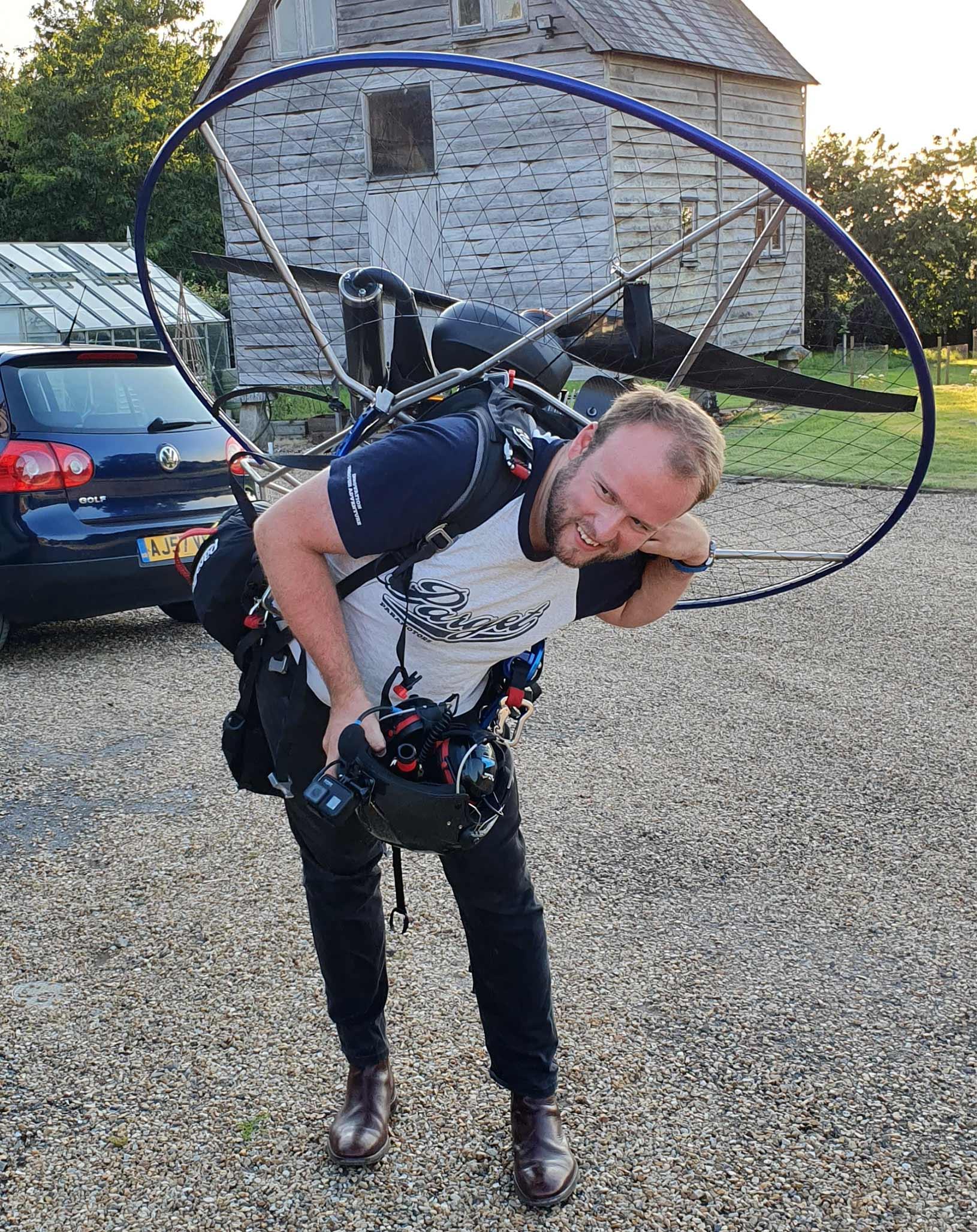 Ben Raven paramotor training instructor