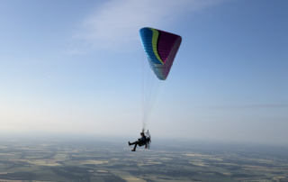 Paramotor Flying Side On
