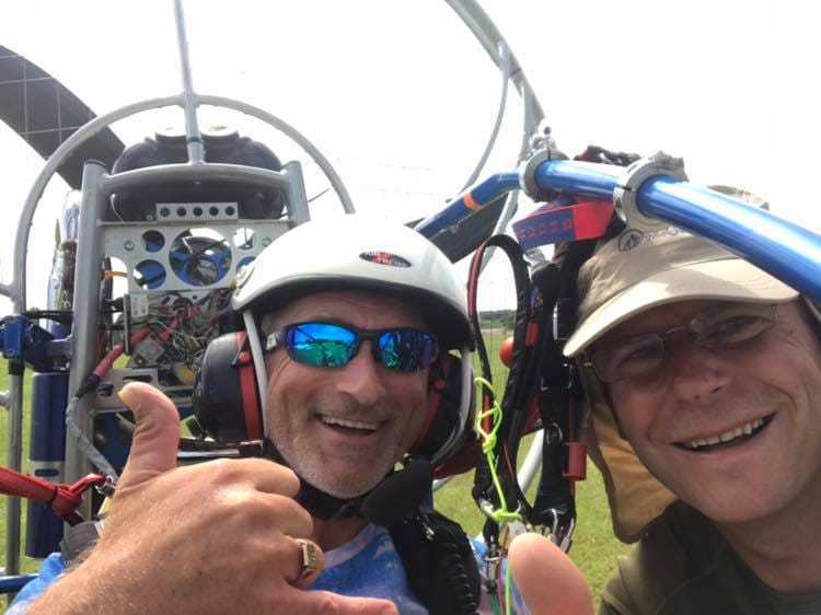 paramotor disabled wheelchair user RAF