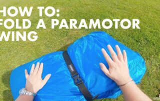 learn to fold a paramotor wing