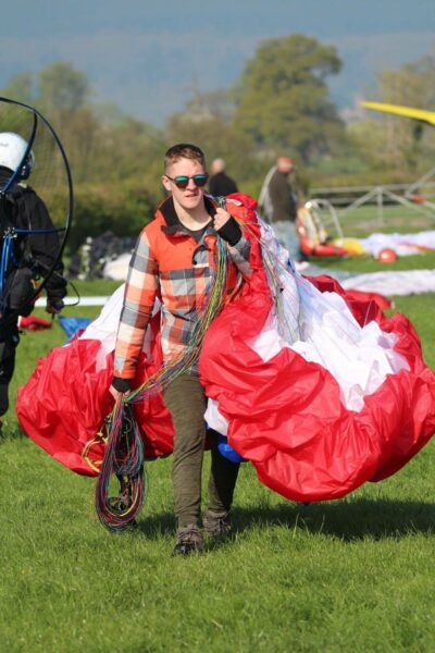 Oscar Haynes Paramotor flying instructor